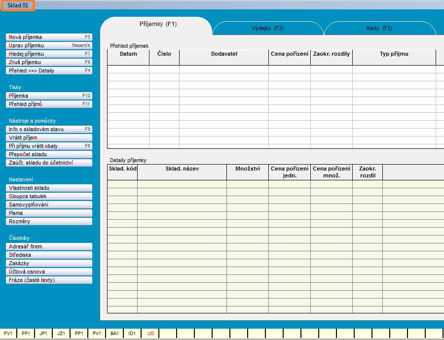 Sklad - Účetní software Profesionál